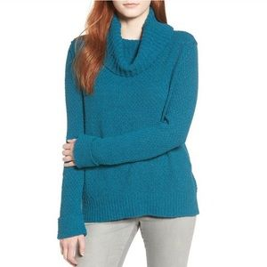 NWOT Caslon Blue Cowl Neck Sweater Size Small